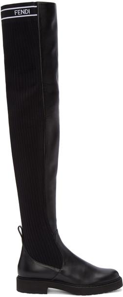 Fendi black shoes