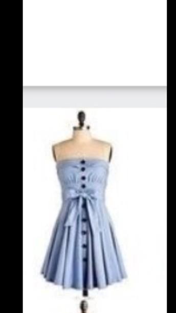 dress dress cute strapless button up  bow