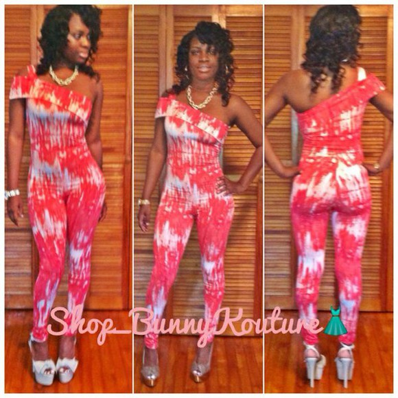 petite jumpsuit color burst one shoulder stretch romper jumper