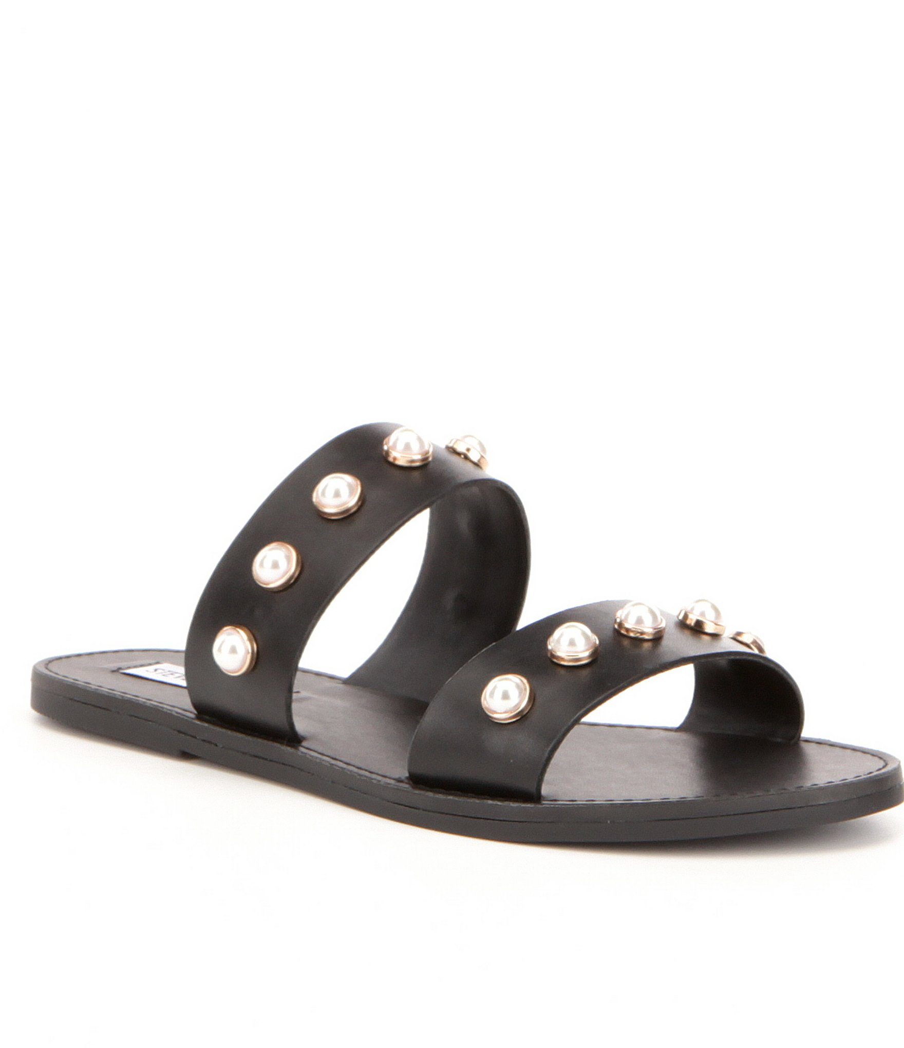 great fit half off factory authentic Steve Madden Jole Faux-Pearl Slide-on Sandals | Dillards