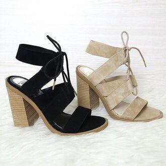shoes windsor smith black suede suede heels beige suede beige heels nude heels black heels lace up heels peppermayo