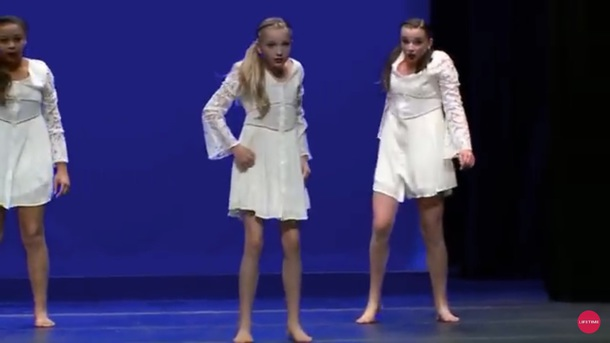 White Dance Moms Dress
