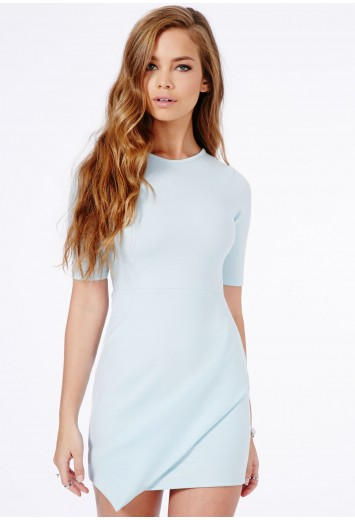 Bonitta origami mini dress in baby blue