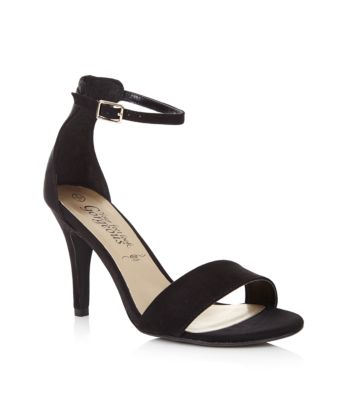 Black Ankle Strap Sandals Heels