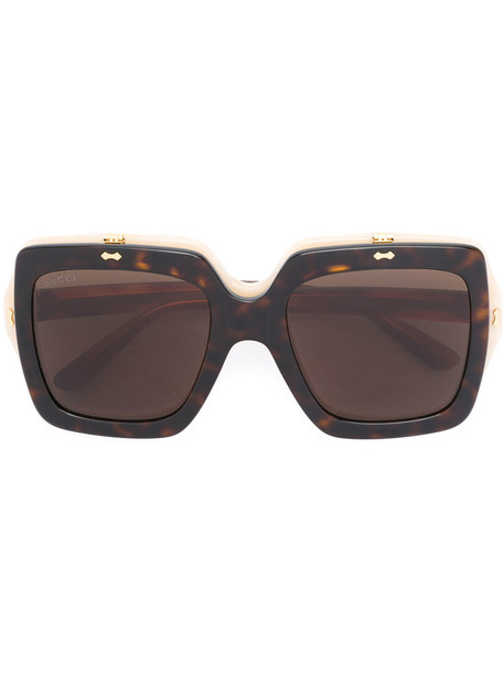 825b66d74a7 Gucci Eyewear Gucci Eyewear - oversized square sunglasses - women - Acetate  - One Size