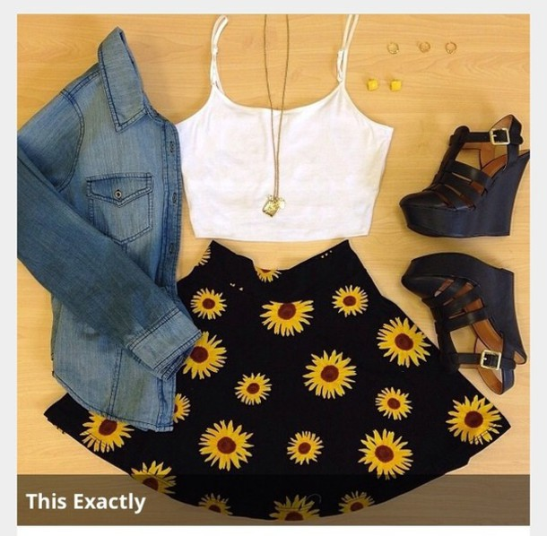 dress crop top bralette skater skirt