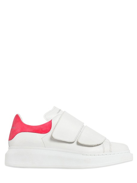 Alexander Mcqueen suede sneakers sneakers leather suede white pink shoes