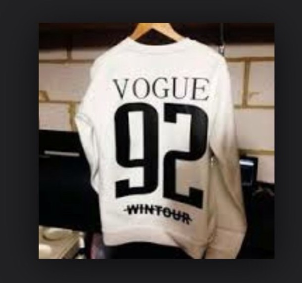 sweater vogue white