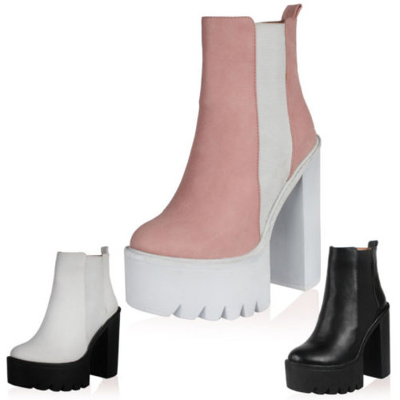 shoes boots chunky boots platform shoes high heels ankle boots block heels retro