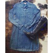 dress,sexy,lovestitch,denim,summer dress,playful,spring summer fashion,trendy,long sleeve dress,collared dress,blue,blue dress,blue jeans