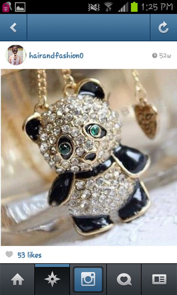 jewels panda necklace