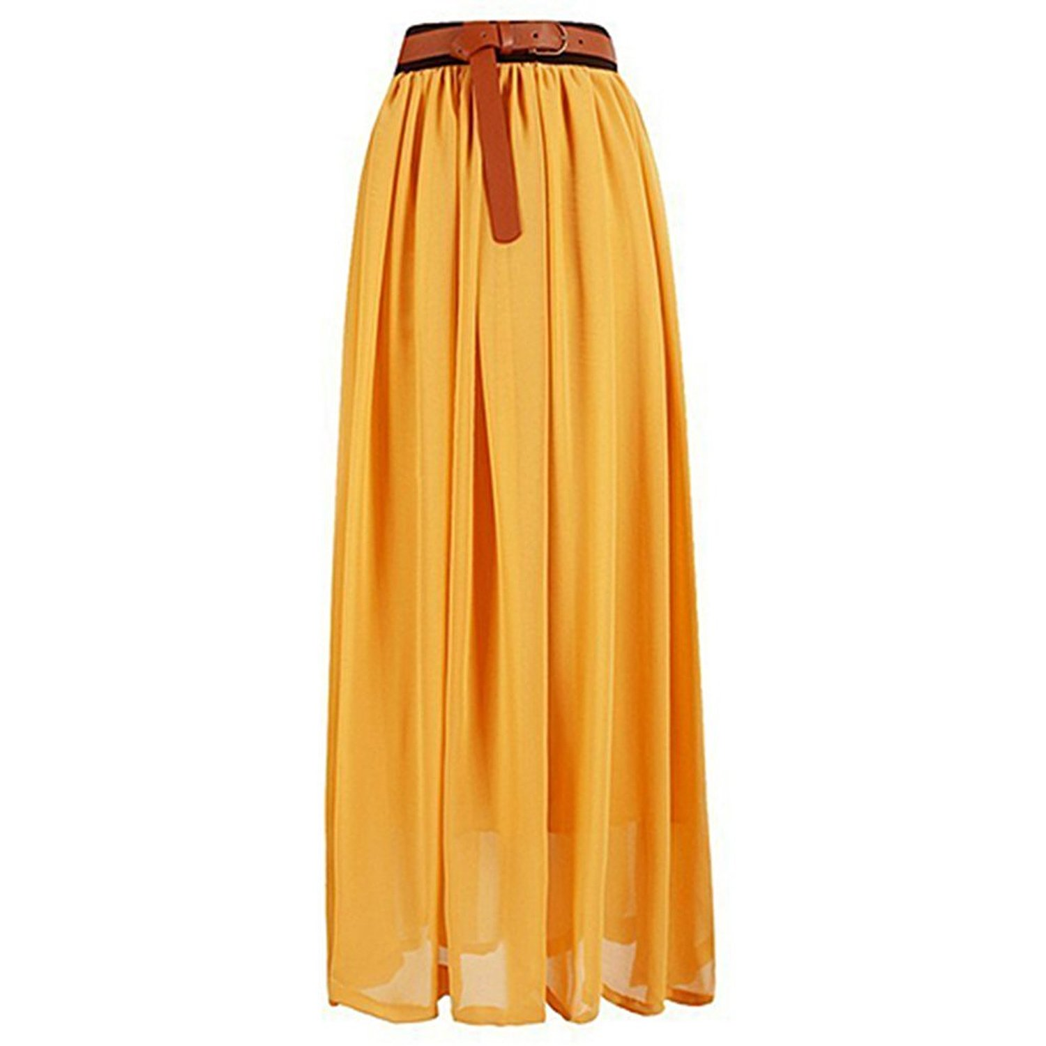 Broadfashion Women's Vintage Pleated Long Chiffon Maxi ...