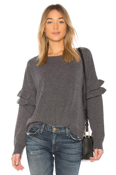 Current/Elliott sweater ruffle sweater ruffle