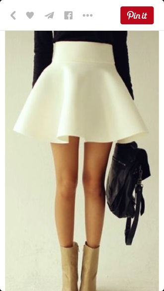skirt skater skirt circle skirt white skirt short skirt