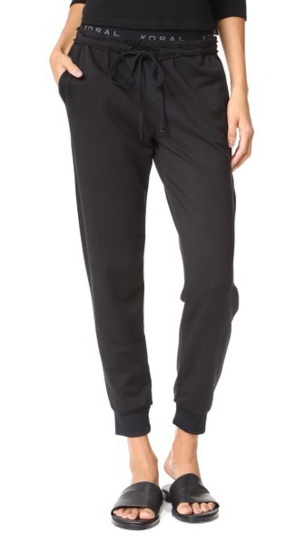 KORAL ACTIVEWEAR Station Sweatpants in black