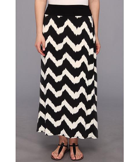 Karen kane plus plus size tribalzig zag maxi skirt black