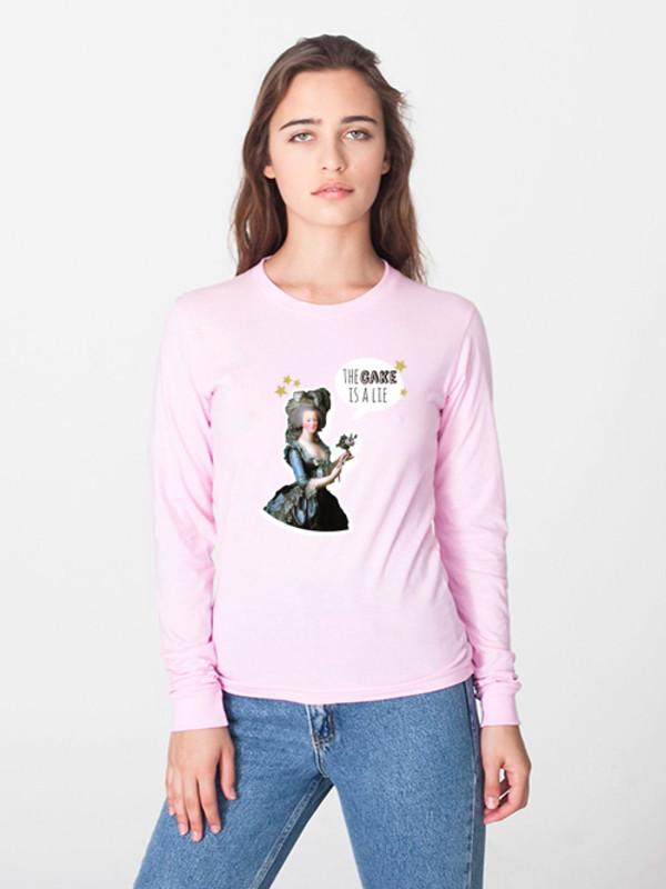 t-shirt portal cake funny marie antoinette tumblr hipster