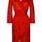Roberto cavalli - ruffle trim knit dress - women - silk/polyester/spandex/elastane/viscose - 44, red, silk/polyester/spandex/elastane/viscose