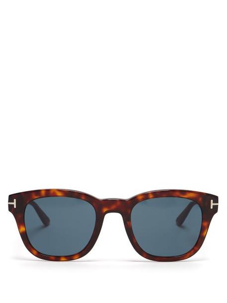 9168f416a2ec9 Tom Ford Eyewear Tom Ford Eyewear - Round Frame Tortoiseshell Acetate  Sunglasses - Womens - Tortoiseshell