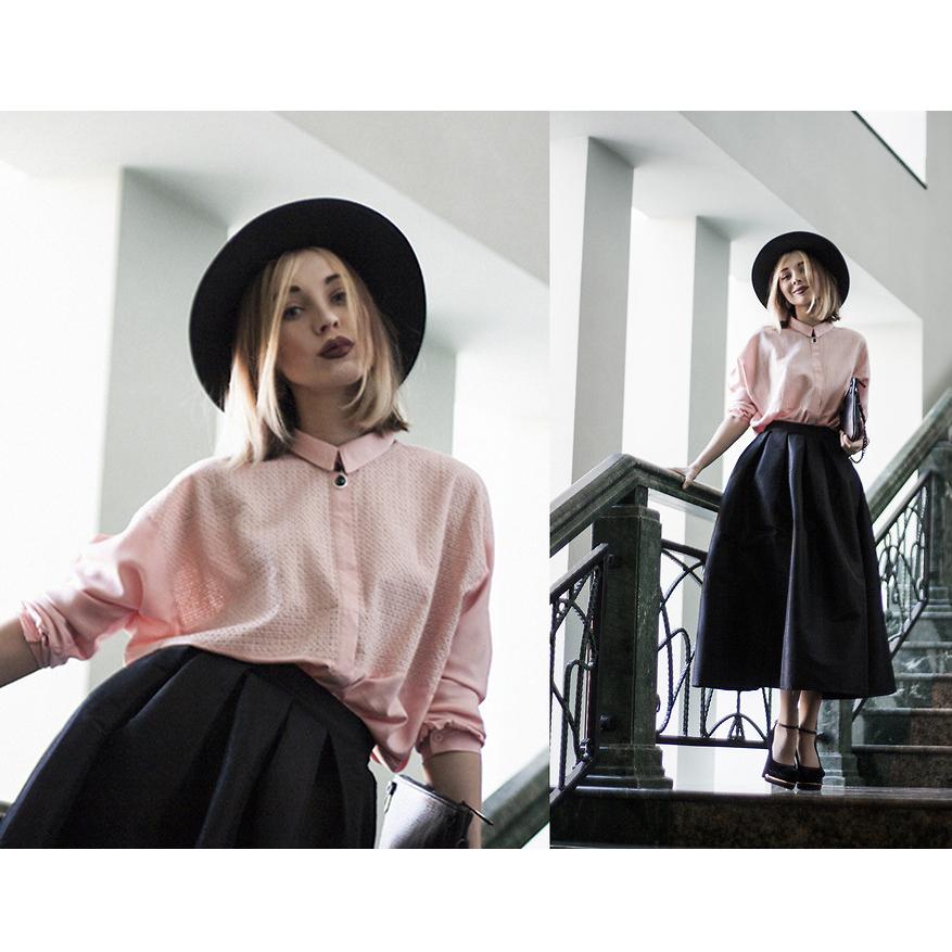 La diva pleated maxi full skirt in black