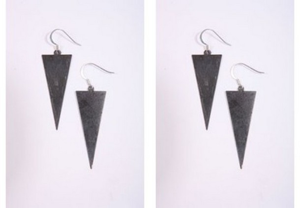 jewels triangle earrings urban outfitters