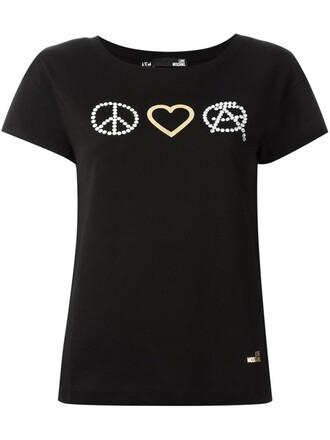 t-shirt shirt peace black top