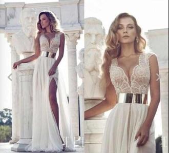 dress ivory dress lace dress