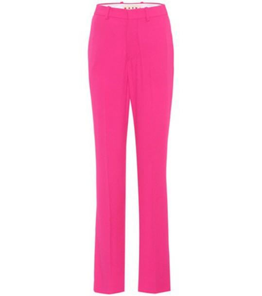 Marni Crêpe trousers in pink