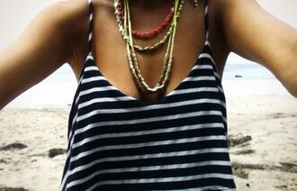 shirt loose rayure mariniere
