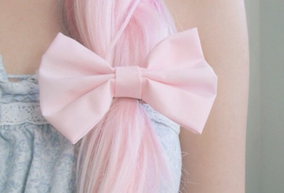 hair bow jewels light pink fancy elegant soft bow hair accesories beautiful
