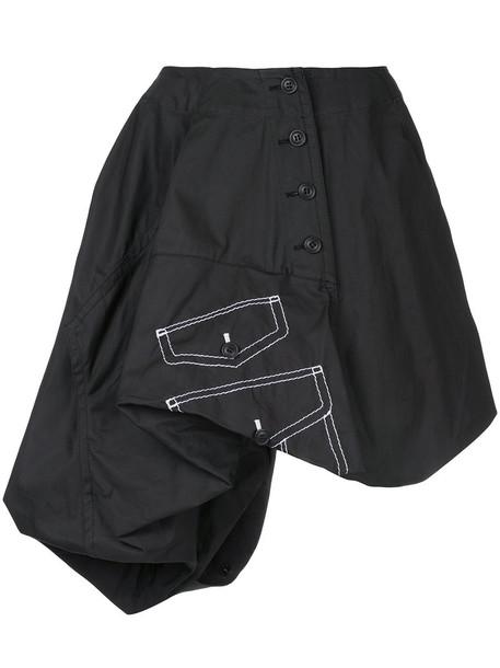 Comme des garcons skirt women cotton black