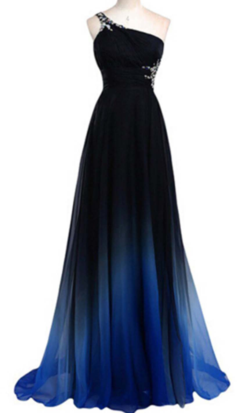 27f4ef94106 Blue Ombre One Shoulder Long Prom Dress KSP433 [KSP433] - £99.00 : Cheap Prom  Dress UK, Wedding Bridesmaid Dresses ...