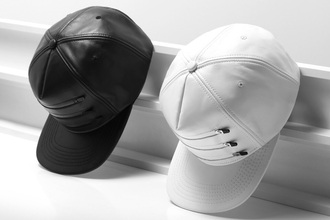 hat white black cap snapback zip