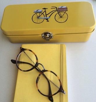 bag yellow pencil case