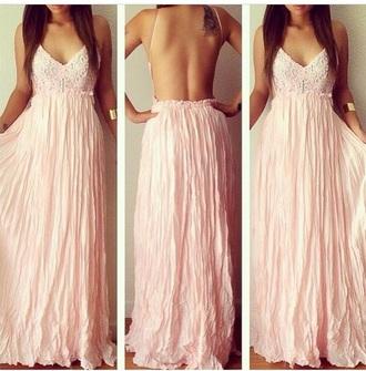 dress pink dress lace dress maxi dress summer dress beautiful dresses