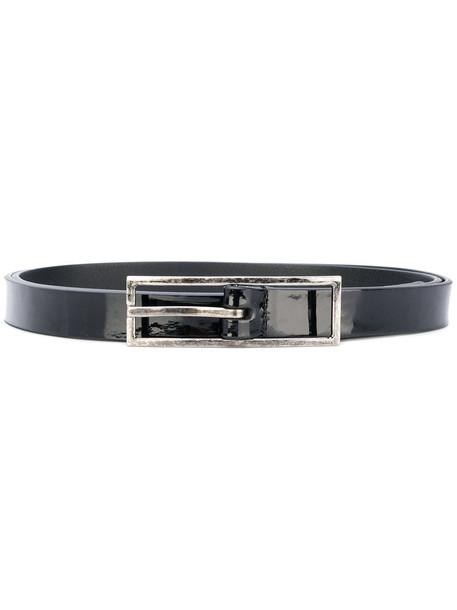 Saint Laurent women belt leather black