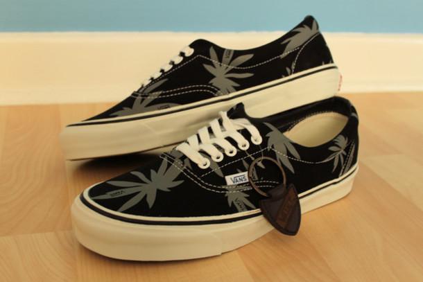 shoes, black, authentic, vans, weed, jeans, weed, marijuana, kush ...