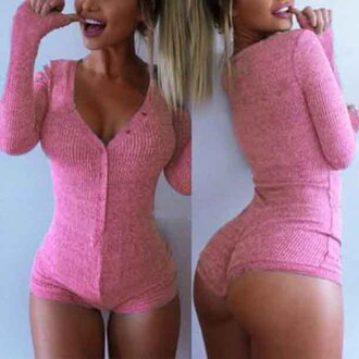 romper women v neck jumpsuit bodysuit long sleeves sexy girly