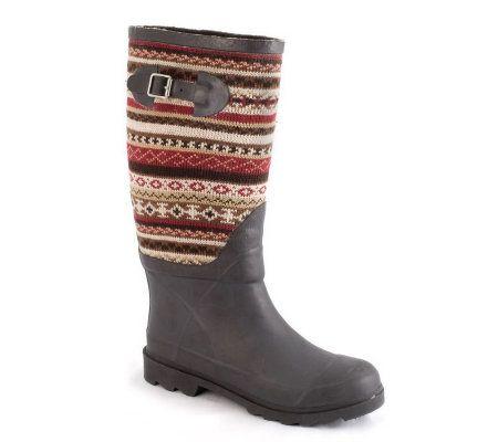 Muk Luks Fairisle Rain Boots — QVC.com