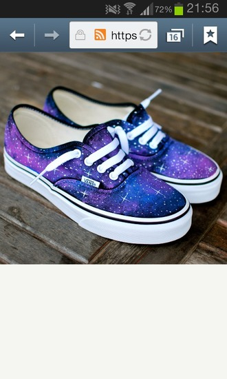 shoes vans galaxy sneakers
