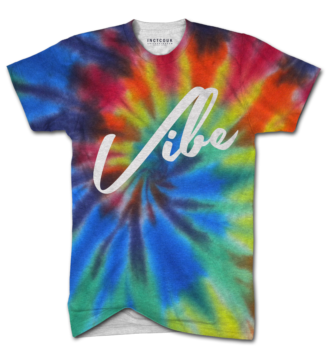 Vibe tie dye all over print t shirt for Tie dye printed shirts