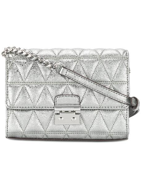 MICHAEL Michael Kors women quilted bag crossbody bag grey metallic