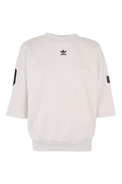 Topshop top adidas originals grey