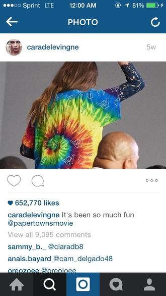 shirt tie dye cara delevingne
