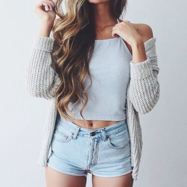Cute summer outfits with jean shorts