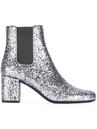 boots chelsea boots metallic shoes