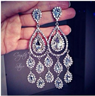 jewels diamonds earrings prom jewellery sparkly bling sparkling
