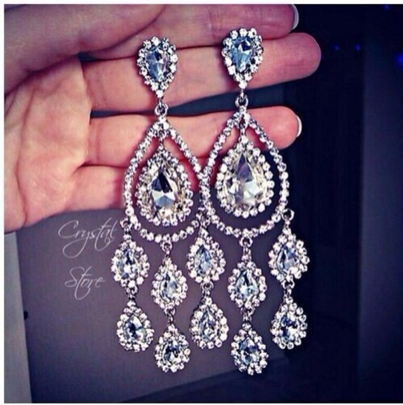 jewels earrings sparkling bling diamonds prom sparkly