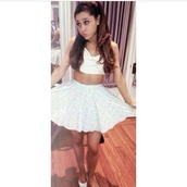 skirt,ariana grande,shirt