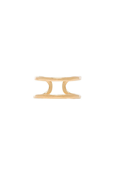 joolz by Martha Calvo Open Bar Knuckle Ring in gold / metallic
